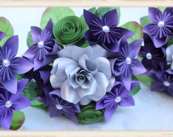 Paper Flower Bridesmaid Bouquet