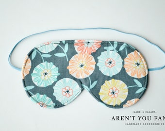 Eye Mask, Sleep Mask, Travel Mask, Handmade Cotton Floral Pattern Mask by Aren't You Fancy