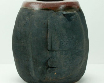 Vintage Guerrero Face Pot Planter Abstract 20th Century Style