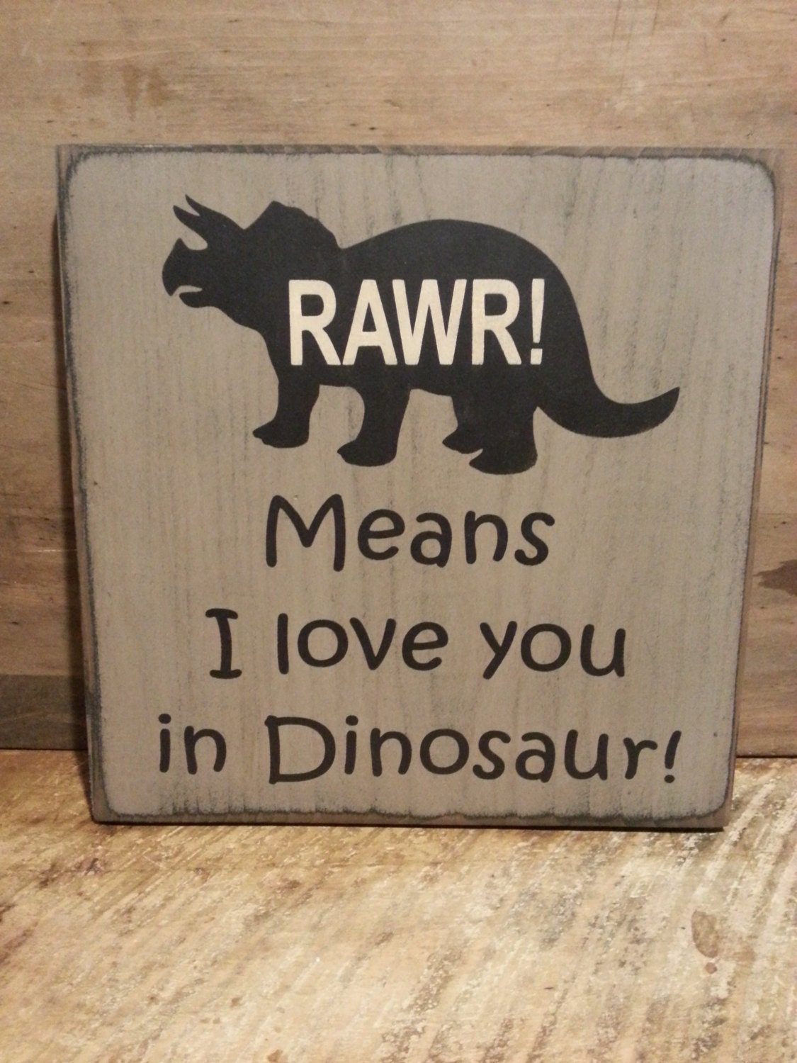Dinosaur wood sign kids room sign boys room decor rawr for Room decor signs