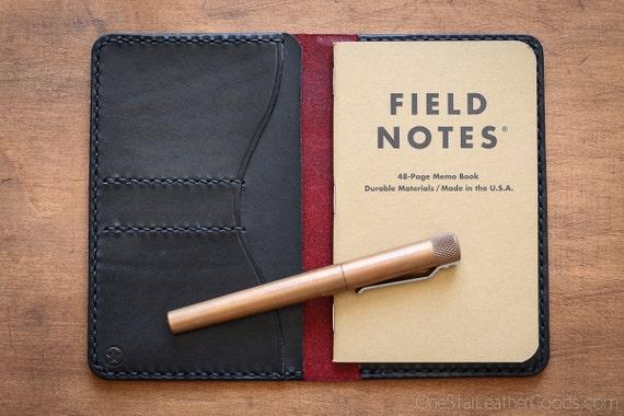 The Park Sloper No Pen, Field Notes wallet - red/black