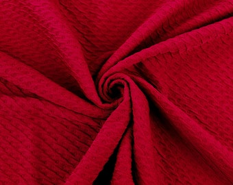 Ruby Poly Rayon Spandex Jacquard Fabric By the Yard Style 468