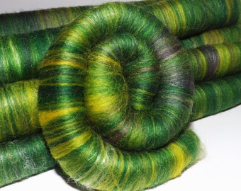 Rolags, punis for spinning - Spring Meadow - 4.0 Oz