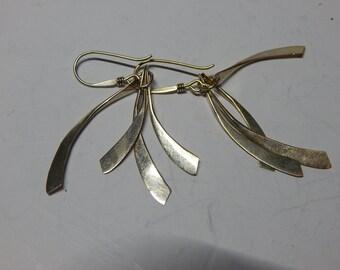 Sterling Silver dangling earrings, 925, 2g,