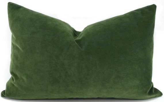 dark green velvet lumbar pillow cover 14x22 throw pillow. Black Bedroom Furniture Sets. Home Design Ideas
