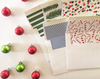 Holiday Envelope Liners, Christmas Envelope Liners, Custom Envelope Liners, Pattern Envelope Liners - ASSEMBLY INCLUDED
