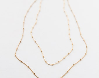 Gold Filled Double Chain Necklace
