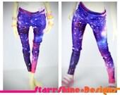 BJD MSD 1/4 Doll Clothing - Shimmer Galaxy Print Leggings