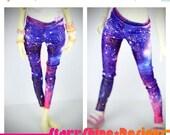 Anniversary Sale 20% Off BJD MSD 1/4 Doll Clothing - Shimmer Galaxy Print Leggings