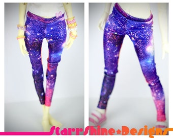 BJD MSD 1/4 Doll Clothing - Shimmer Galaxy Print Leggings