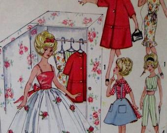 Vintage 1960s Simplicity Barbie Tammy Doll Clothing Wardrobe Pattern 4883 **Epsteam