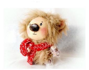 Teddy bear, Stuffed teddy bear, stuffed bear, stuffed toy, christmas gift, miniature, handmade