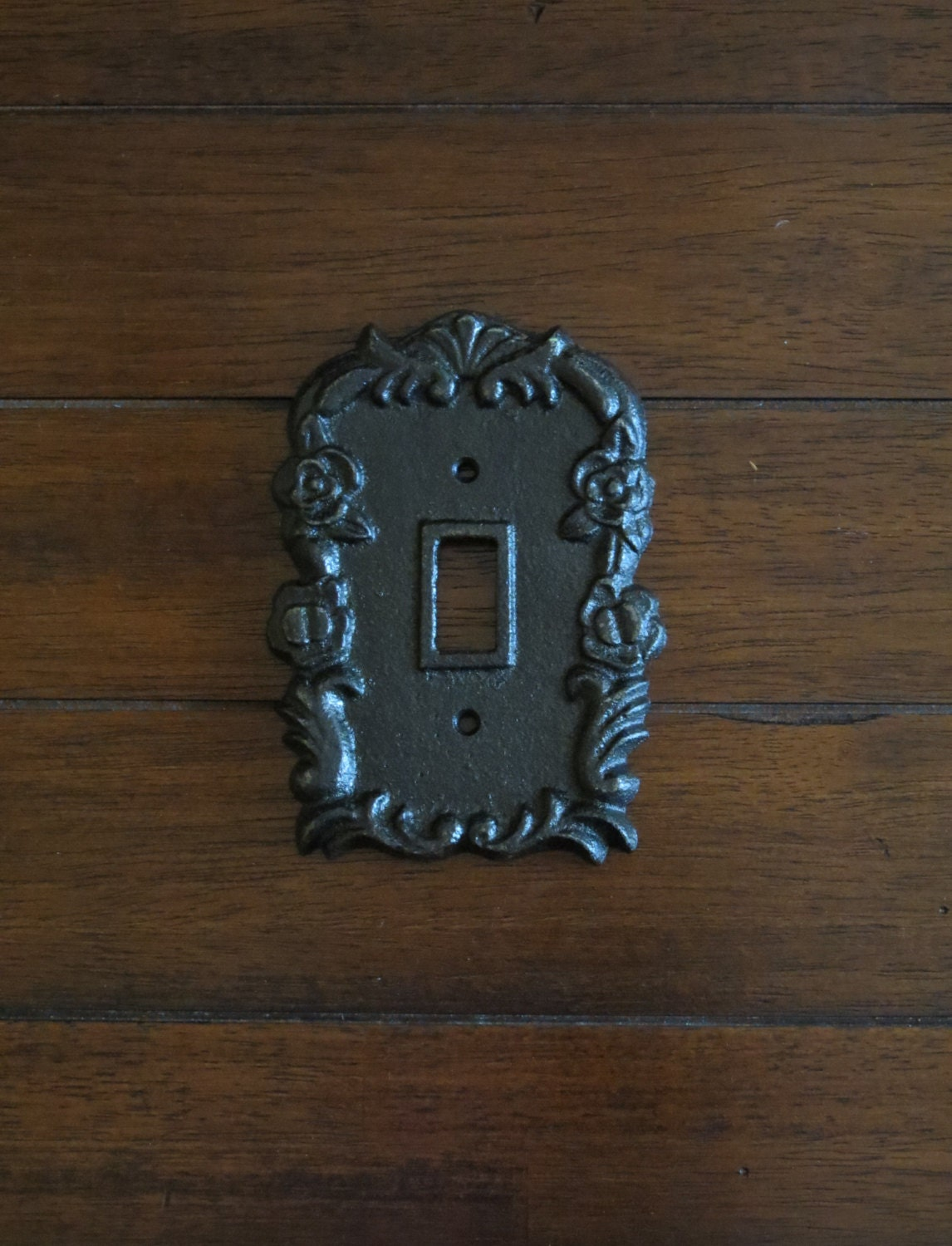 Light switch plate light switch cover cast iron - Wrought iron switch plate covers ...