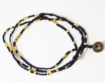 Wakami Bracelet black and gold