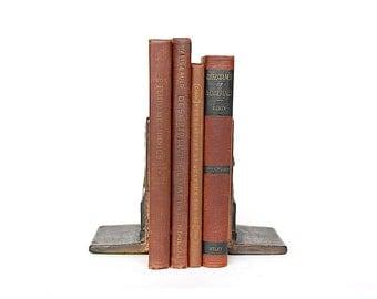 Decorative Book Set - Vintage Textbooks - Book Props - Library Decor -College Decor - Science & Math Books -Book Decor -Bundle of Old Books