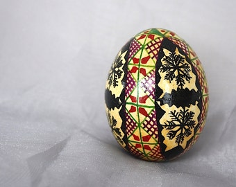 Pysanky Egg - Vintage Easter Egg - Vintage Folk Art - Vintage Easter Decor - Decorative Egg - Spring Decor - Ukrainian Folk Art
