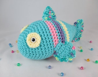 Crochet Stuffed Fish, Amigururmi Fish, Crochet Rainbow Fish, Toy Fish, Rainbow Fish Plush by CROriginals