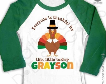 Personalized Thanksgiving Outfit - babys first thanksgiving outfit - Everyone is Thankful for Me Shirt Raglan Thanksgiving Shirt