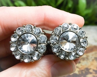 Sparkling Rhinestone Plugs, gauges    0g, 00g, 7/16, 1/2, 9/16, 5/8, 3/4, 7/8, wedding, formal, cute, dressy