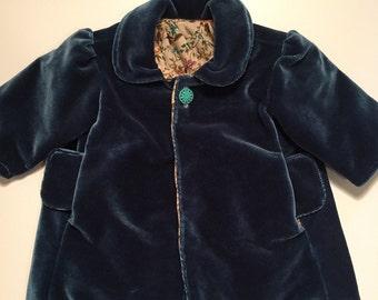 Blue Velvet coat 6-12 months