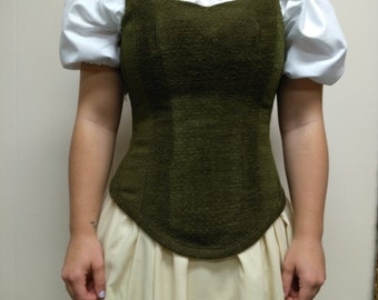 Long waisted bodice, wench, garb, renaissance, SCA, LARP, pirate
