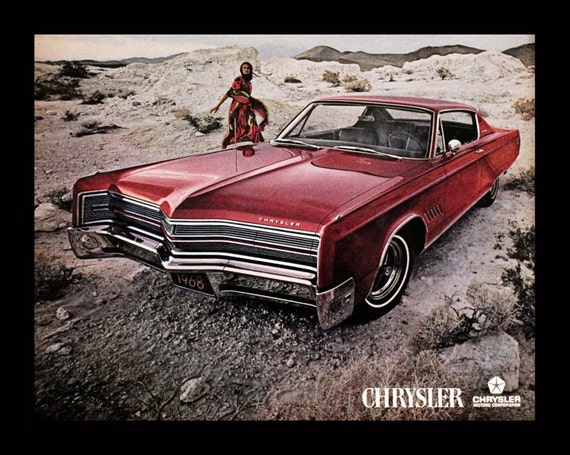 1968 chrysler 300 coupe ad 2 door burgundy maroon v8. Black Bedroom Furniture Sets. Home Design Ideas