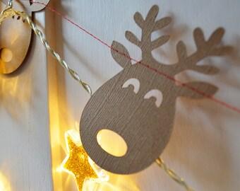 Christmas Reindeer Garland