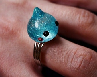 kawaii water-drop ring