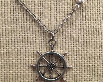 """16"""" Silver Rudder Necklace"""