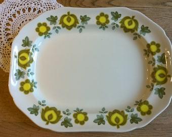 Large retro plate platter