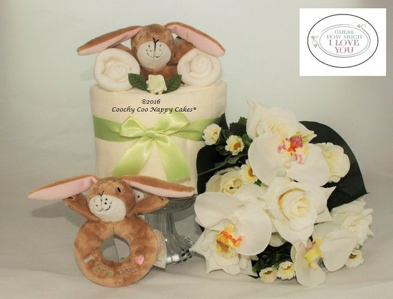 Baby Shower Gifts How Much ~ Guess how much i love you mini nappy cake baby shower gift