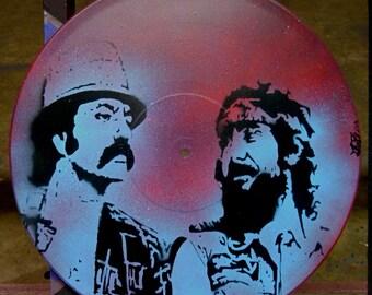 Cheech & Chong stencil on vinyl