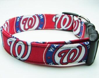 Washington Nationals Dog Collar