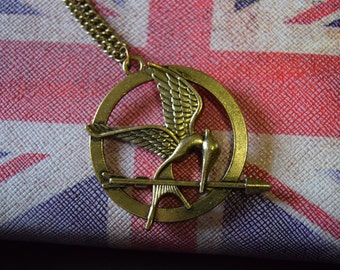 Hunger Games, mockingjay necklace