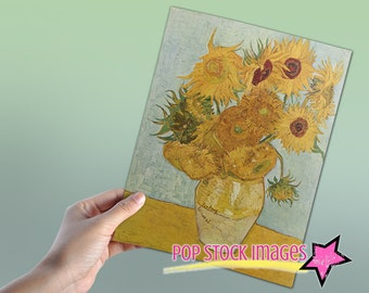 Doctor Who Van Gogh Sunflowers for Amy Pond - Digital Poster 8x10 - Doctor Who Poster Printable - 11th Doctor
