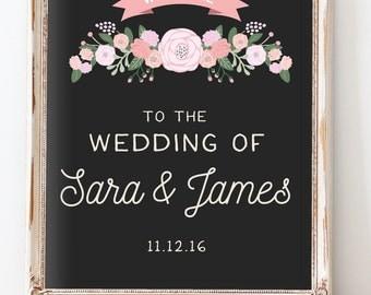 Rustic Wedding Welcome Sign - Custom Wedding Reception Signage - The Cady Sign Set