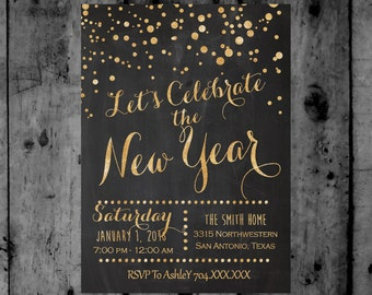 New Years Eve Party Printable Invitation