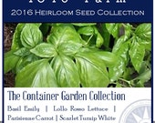 The Container Garden Collection - Heirloom, non-GMO Seed Collection