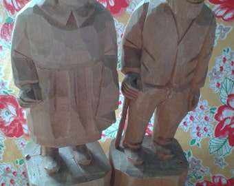 Old Couple Vintage Carvings