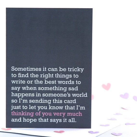 Words Of Sympathy New World: Thinking Of You Very Much Sympathy Card
