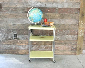 Vintage Metal Cart ~ Vintage Kitchen Utility Cart ~ Craft Organization Cart ~ Display Stand ~  Local Seattle Area Pick-up or Delivery ONLY