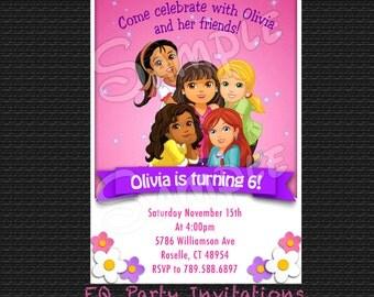 Dora and friends birthday invitation - Printable