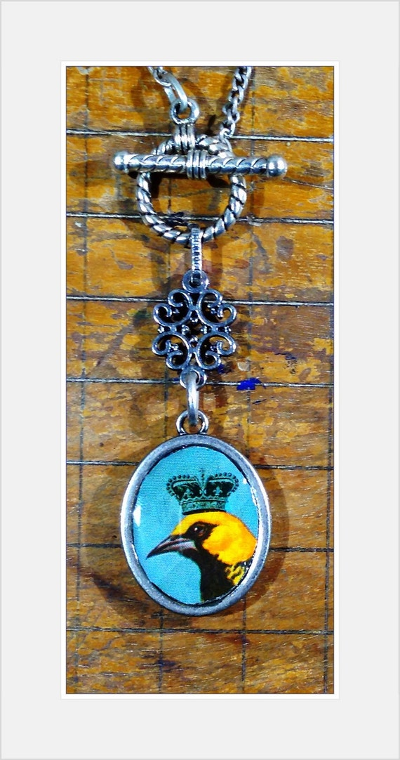 Vintage Playing Card Necklace, Double-Sided Pendant