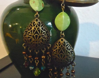 """Earrings""""Bohemia"""" multicolor - unique Creation made in FRANCE-"""
