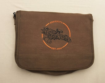 Serenity Embroidered Messenger Bag (Home Embroidered)