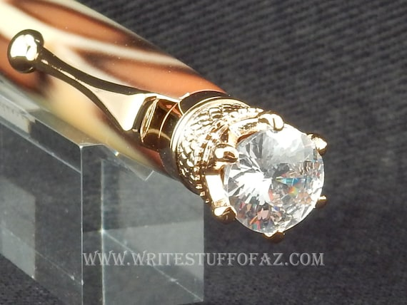 Leopard Skin Print Twist Pen, Adorned with Swarovski Crystal