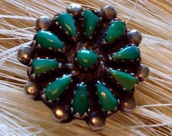 Sterling Silver Turquoise Ring (st - 1512)