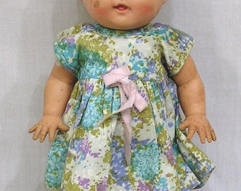 Vintage Sun Rubber Doll with Original Dress Barberton Ohio USA Sun Rubber Tod-L-Tot 1950s