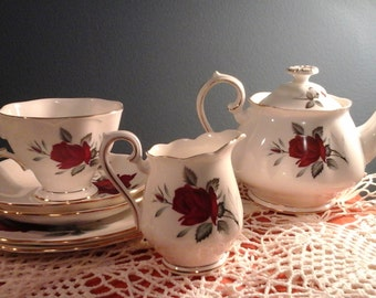 Royal Albert Sweet Romance Tea Service