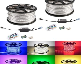20 ft RGB 5050 Outside LED Strip Light Kit IP65